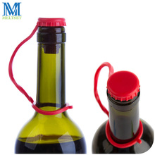 5pcs/Lot Candy Color Silicone Hanging Wine Bottle Stopper Freshness Keeper Bar Tool