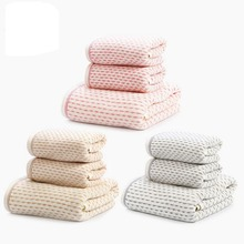 New Arrivals Raindance Dots Towel Sets Romantic Adults Thickening Bath Towels 100% Cotton Water Absorption Face Towels 3PCS*Lot