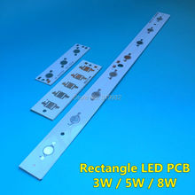 20 PCS LED Rectangle aluminium base plate 3W 5W 8W high power Panel Lumen LEDs radiator for LED Lamp chip White PCB Board