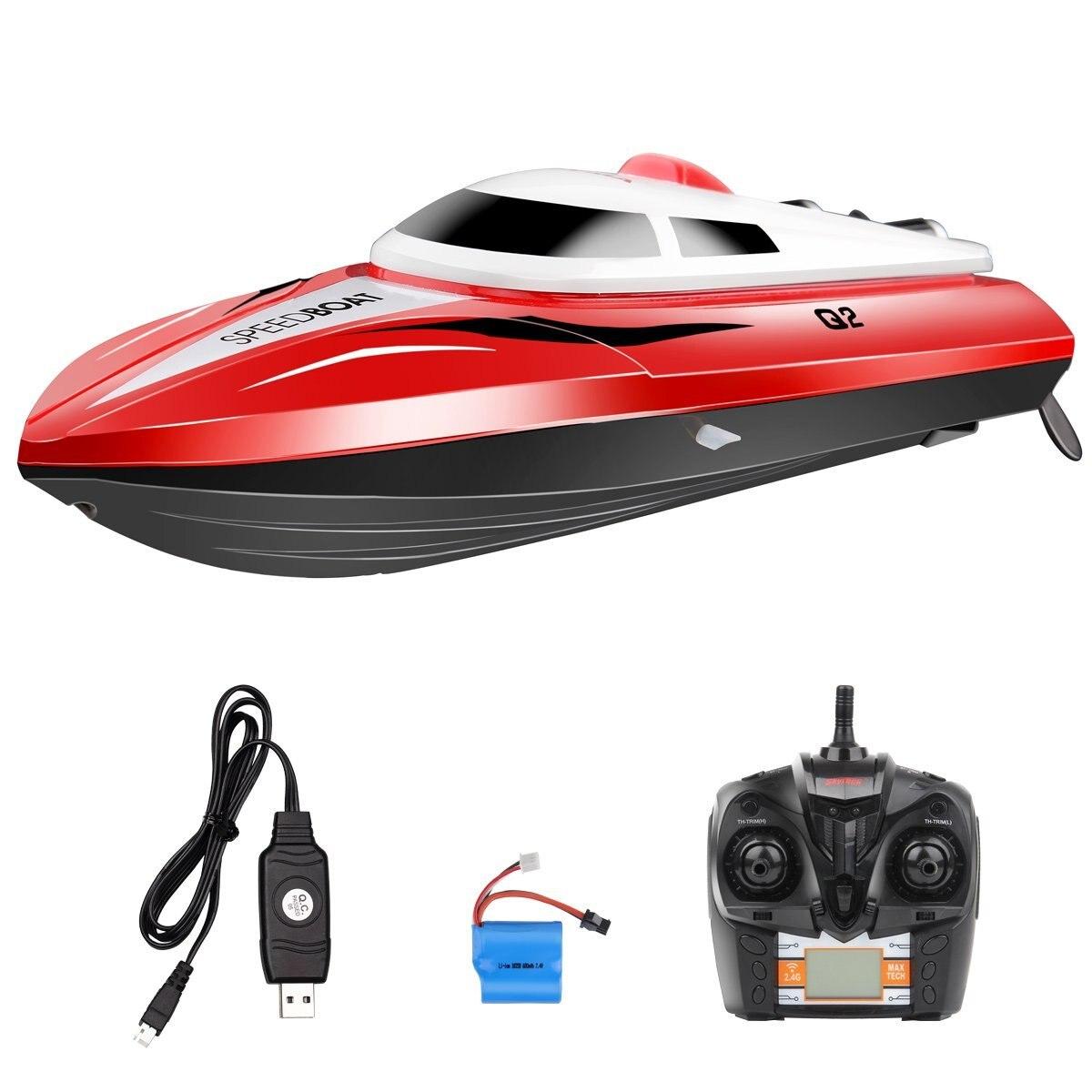 EBOYU(TM) SYMA Q2 RC Boat Water Sensor Switch Cooling Device 2.4GHZ 4CH Remote Control Speedboat<br><br>Aliexpress