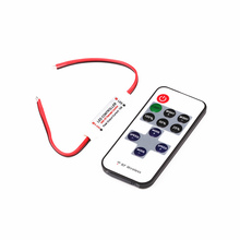 DC 12V Mini Led Controller Dimmer 433Mhz Wireless RF Remote Control For Single Color Strip Light 3528 5050