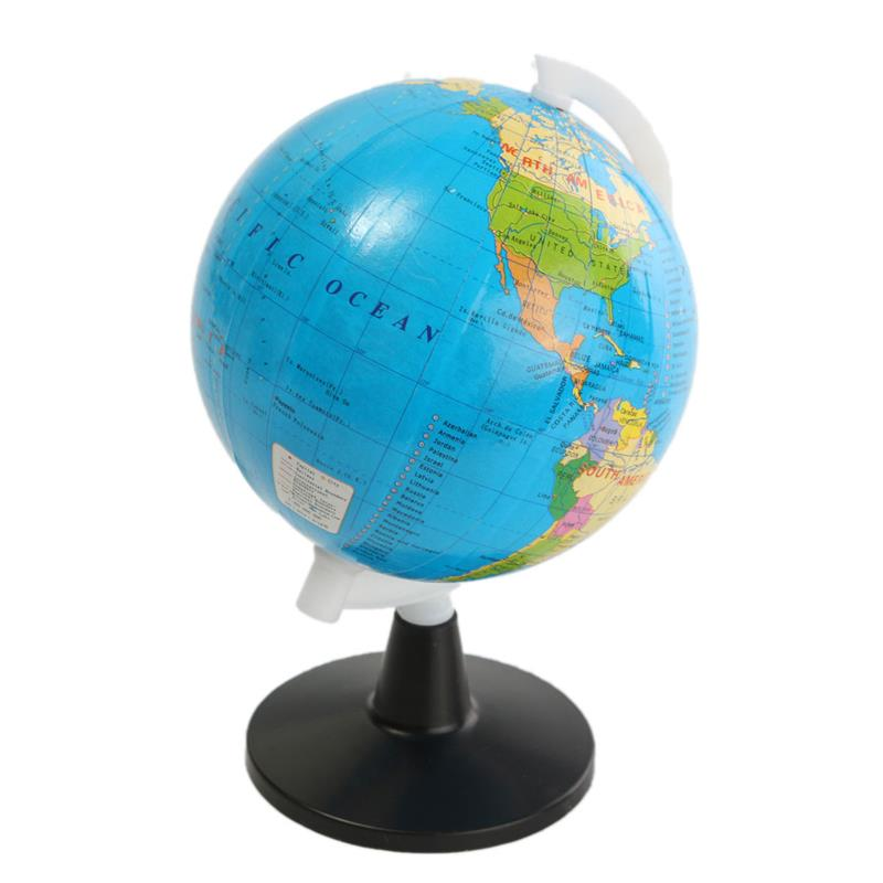Teaching Aid Geography World Globe with Swivel Stand Atlas Map Tellurion Toy