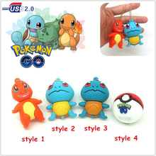 cartoon Pokemon monster usb flash drive disk Squirtle Chelonia Charmander memoria stick pendrive gift Pen drive 4g 8gb 16gb 32gb