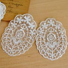 Accessories white lace organza embroidered cloth affixed clothing paste Lei Sibu(China)