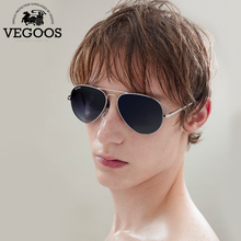 VEGOOS Men Polarized Sunglasses Driving Sunglasses Stainless Steel Frame Aviation Oculos De Sol Masculino Sun Glasses #3025M(China)