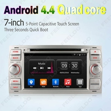 "7"" inch Silver Panel  Android 4.4.4 Quad Core Car DVD GPS Radio Head Unit For Ford  #FD-4997"
