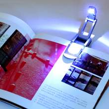 Black Flexible Folding LED Clip on Reading Book Light Lamp for Reader Kindle stylish