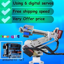 Fully assembled Arduino Robot 6 DOF Robotic Arm Full quality digital servo free shipping(China)