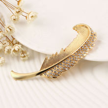 Fashion Retro Rhinestone Crystal feather hair clip spring clip hairpin jewelry accessories for women YW043