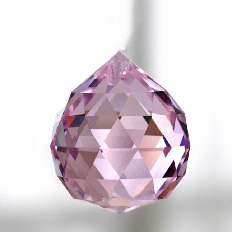 3 Natural Lake Blue Crystal Ball Prisms Chandelier Prisms Lamp Drop Pendant 30mm crystal lamp