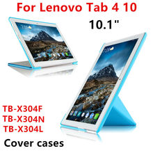 "Buy Lenovo Tab4 Tab 4 10 TB-X304N TB-X304L TB-X304F 10.1"" Tablet PC Cover Case Protective PU Leather TAB4 10 TB X304F/N/L Cases for $10.97 in AliExpress store"