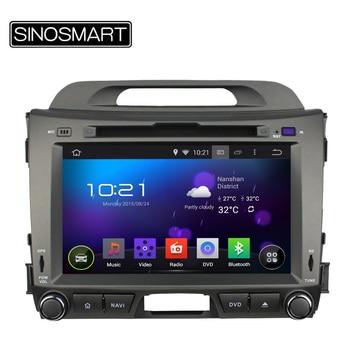 SINOSMART 8 Pouce Quad Core 1.6 GHz Android 5.1 Autoradio DVD GPS Navigation pour KIA Sportage R 2010-2015 Canbus Facultatif