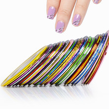 Wholesale 500pcs Excellent Nail Art Decoration Sticker 50 colors Metallic Yarn Matte Self-Adhesive Nail Strip Free EMS shipping(China)
