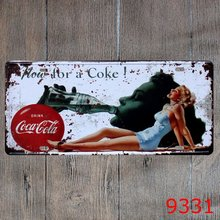 Metal Plate Drink Coke Vintage Metal Tin Sign Retro Tin Plate Sign Wall Decoration for Cafe Home and Restaurant