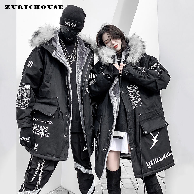 Fheaven Women Fur Lining Coat Hoodie Winter Warm Thick Long Jacket Hooded Parka with Belt