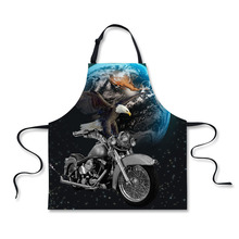 FORUDESIGNS Kitchen Antifouling Eagle Apron Unisex Work Cleaning Poly Cotton Aprons Sleeveless Chef Tablier Cooking Delantal(China)