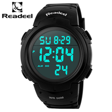 2017 Readeel New Brand Men LED Digital Military Watch, 50M Dive Swim Dress Sports Watches S Shock Wristwatches Relogio Masculino(China)