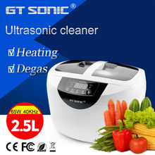 Digital Ultrasonic cleaner 2.5L for baby items, fruit and vegetable, watch, rings, dinner ware cleaning tank VGT-6250 GT SONIC