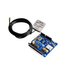 5 pcs GPS Shield GPS record expansion board GPS module with SD slot card With Antenna for Arduino UNO R3(China)