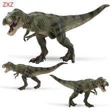 1pcs ZXZ Carnivorous Dinosaurs Tyrannosaurus Rex Loong Toy Classic Plastic Dragon Dinosaur Toys For Boys Collection Animal Model