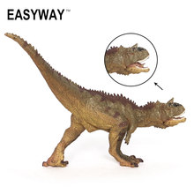 Mr.Froger Dinosaur Carnotaurus Model Toys Action Figure Solid plastic Classic Toys Children Animals Models Jurassic zoo collect(China)