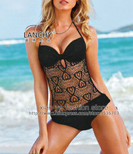 free shipping out within 24hours 2015 new style halter padded underwired Hot pink Orange Black wild 1pc monokini Size S M L XL