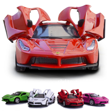 1:36 Scale Metal Model Car Diecast pull back car With Sound&Light Collection Car Toys Vehicle Gift For Children LF774