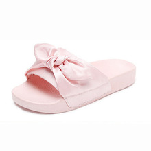 Girls Slippers 2017 Fashion Design Casual Beach Slippers Kids Shoes Sandal Summer Slides Princess Bow Knot Children Slippers