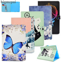 "Colorful 3D Printer Case for iPAD 2 iPAD 3 iPAD 4 9.7""Smart PU Leather Case Card Holder Wallet Flip Stand Tablet Cover For Ipad2(China)"