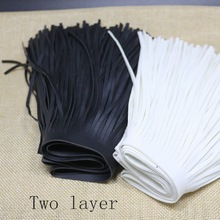 Fashion Leather Tassel Lace Trim Fringe DIY Handmade Clothes Accessory Wholesale 14.8 cm Wide