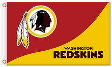 Top design Washington Redskins flag 90x150cm outdoor polyester banner with 2 Metal Grommets Wholesale(China)