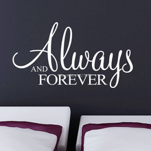 hot 8355 new always and forever bedroom living room TV backdrop stickers waterproof removed