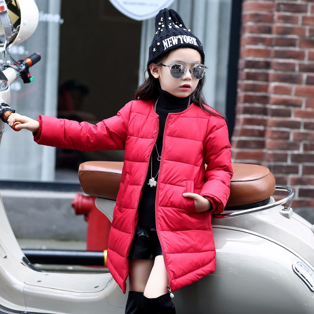 Newest 2017 Children Winter Wear Jacket Baby Girl Down Coat Long Style Self-Cultivation Kids Parkas Student Outdoor OuterwearОдежда и ак�е��уары<br><br><br>Aliexpress