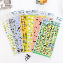 1PCS Gilding+PVC Animal Tower/Plants/cat/dog/bear/starry Planner Calendar Book Cute Diary Sticker Scrapbook Decoration 7style