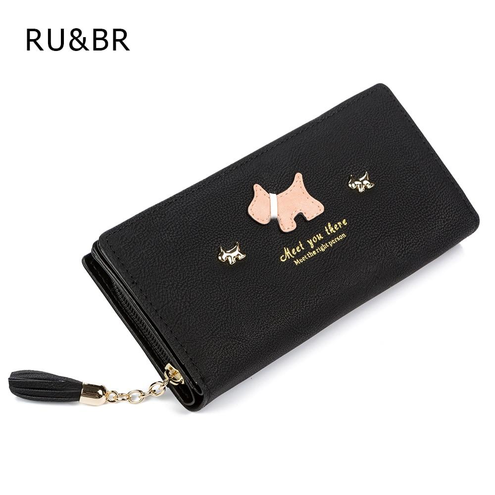 Hot New Fashion Women Wallet Qute Dog Cartoon Tassels Scrub Ladies Wallet Splice Zipper Purse Clutch Cion Pocket Card Holder<br><br>Aliexpress