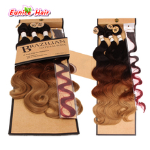 Rainbow Body Wave Synthetic Braiding Body Wave Two Tone Three Tone Brazilian Natural Wave Hair Weft Cheap Perruque Hair Weaving(China)