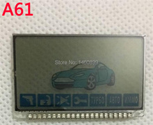 A61 Lcd display screen, Tamarack For Russian Anti-theft Two Way Car Alarm System Twage Starline A61 LCD Remote Control Key Fob(China)