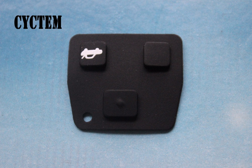 For Toyota Avensis Corolla Lexus 3 Buttons Car Remote Key Case Rubber Pad S LZ
