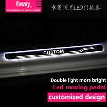 2pcs Car Led moving door scuff car pedal door sill plate steps light welcome pedal for benz W204 W211 W203 W210 W124 C class
