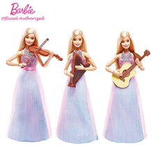 Barbie Original Brand Collection Doll Musician Girl Violin Accessories Toy Barbie Boneca Mode DLG94 Free Shipping