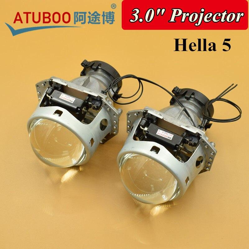 2pcs 3.0 Hella 5 Bi-xenon Projector lens for Motorcycle Car Headlight Metal Holder Use D1S D2S D3S D4S Hid Xenon bulb<br>
