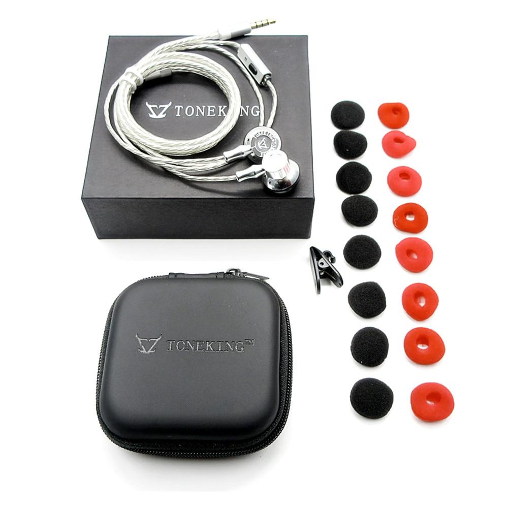 Original TONEKING MusicMaker Tomahawk In Ear Earphone Flat-Head HIFI Earbud Fever Earphone Top Sound As MX985/MX980 E888/282<br>