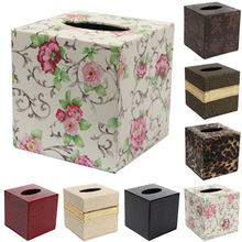 Durable PU Leather Tissue Box Toilet Room Car Paper Case Cover Paper Napkin Holder Home Decoration