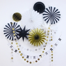 Hanging Decorations Tinkle Little Star Paper Rosette (Banners,Honeycombs,Stars)Wall Decor Wedding Birthday Party Showers Decor