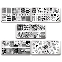 Buy UR SUGAR Unicorn Nail Stamping Plates Stainless Steel Polish Print Template DIY Stencils Nails Art Design Manicure Kit for $1.59 in AliExpress store