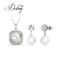 Destiny Jewellery Embellished with crystals from Swarovski Jewellery  sets Fashion Pearl Jewellery sets DS035