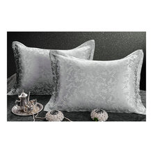 6 color choice silk single  side  Jacquard  Silk Pillowcase size 74cm*48cm+3cm good quality  pillow cover