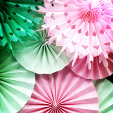 Panduola Round paper fans for party decorations Wedding Event Christmas Birthday Party Decorations Kids  10inch 25cm