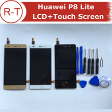 For Huawei P8 Lite LCD Display + Glass Touch Panel New Digitizer Assembly Screen Replacement For 5.0 inch Huawei Ascend P8 Lite