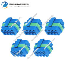 5 Sets 8 pin blue plastic parts automotive waterproof connector with terminal plug DJ7087D-2.8-21 8P connector(China)